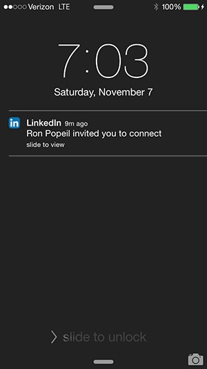 Ron Popeil LinkedIn Connection